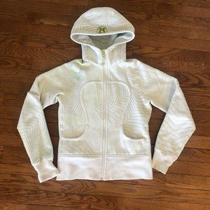 Lululemon Women's White and Green Hoodie Size 4